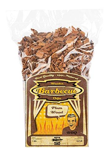 Axtschlag Räucherchips Pflaume, 1000 Gramm sortenreine Räucherspäne für besondere Rauch- und Geschmackserlebnisse, für alle Grills