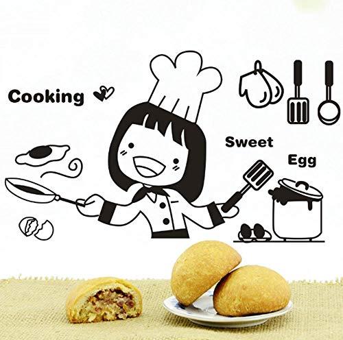 ZZDJ Dibujos Animados Lindo Fiesta decoración Familia Cocina Fondo Pared...