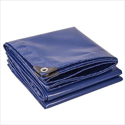 PJ Tente bâches Chiffon imperméable Multifonctionnel capitonné d'ombre de bâche de Camion de Tissu Bleu 0.45mm-520g / m2 Il est largement utilisé (Taille : 6 * 7m)