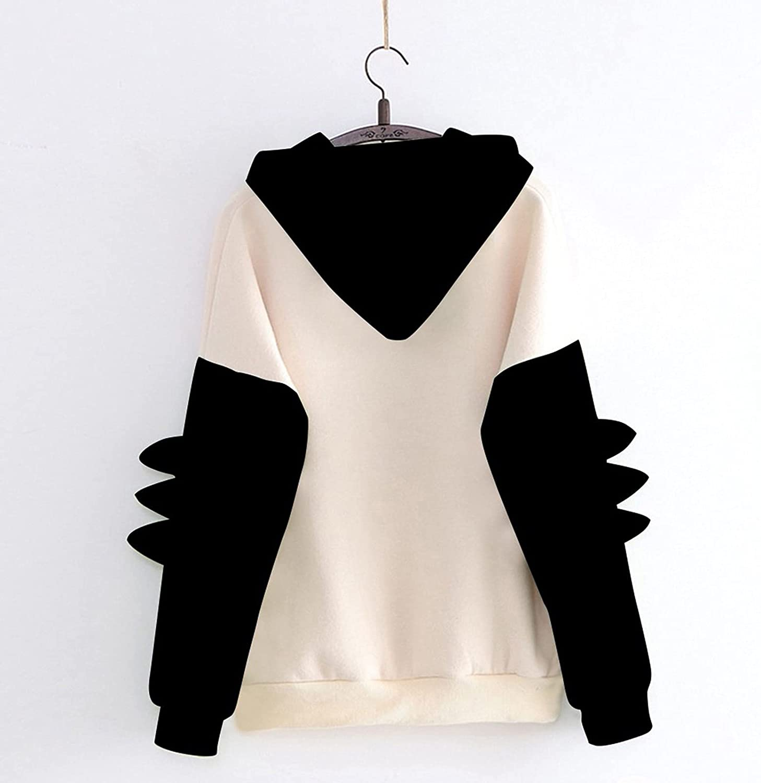 Tanks & Camis College Sweaters for Women,Women's Cute Hoodie Long Sleeve Kawaii Dinosaur Print Tee Casual Shirts