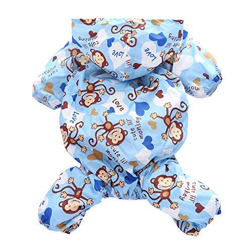 Teddy Bichon hond regenjas kleine schnauzer puppy hond paraplu benen kleding Corgi huisdieren waterdichte poncho blauw L