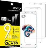 NEW'C 2 Unidades, Protector de Pantalla para Xiaomi Redmi Note 5, Antiarañazos, Antihuellas, Sin Burbujas, Dureza 9H, 0.33 mm Ultra Transparente, Vidrio Templado Ultra Resistente