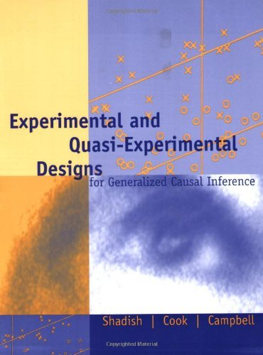 Price comparison product image Experimental and Quasi-Experimental Designs for Generalized Causal Inference