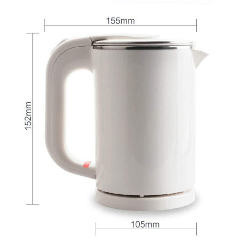 Bouilloire bouilloire pâtes chauffage tasse tasse en acier inoxydable bouilloire bouilloire voyages eau chaude chauffage pot électrique 110v220v bleu noir Xping (Color : Blue) Pink