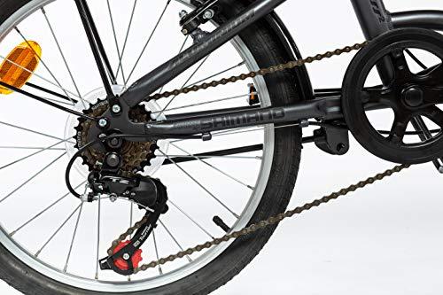 MOMA BIKES Erwachsene BIFCL2GUN Falträder First Class 20″, Aluminium, Shimano 6v, Sattelkomfort, grau, Unic Size - 4