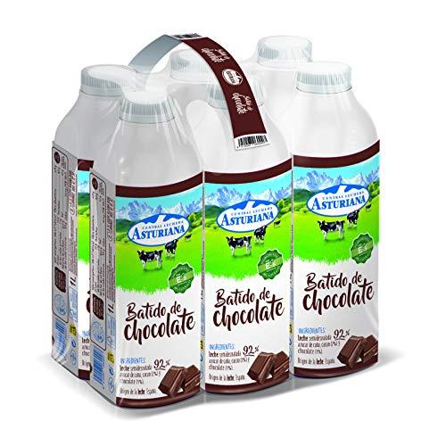Central Lechera Asturiana Batido Cacao - Paquete de 6 x 1000 ml - Total: 6000 ml