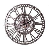 WOERD Reloj De Pared De Metal Vintage Sin Tictac con Engranajes En Movimiento Reloj Silencioso De Estilo Industrial NóRdico...