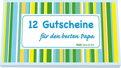 RNK 28725 - Gutscheinheft für den besten Papa, 12 Gutscheine zum Heraustrennen