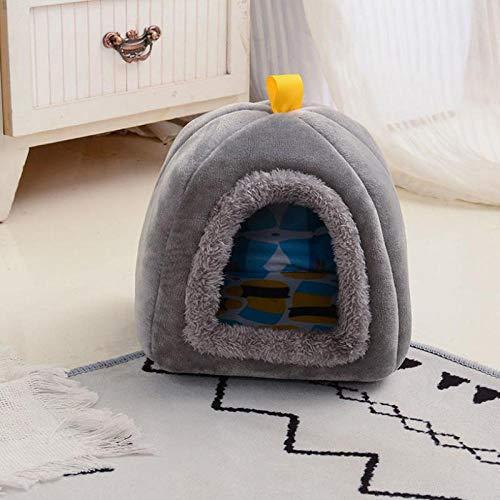 Cama Perro Gato Pequeño Cama Mascota Felpa Sofa Suave Cachorro Animales Domésticos Invierno, Cómoda y Lavable -Mini Gris_Grande 46 * 46