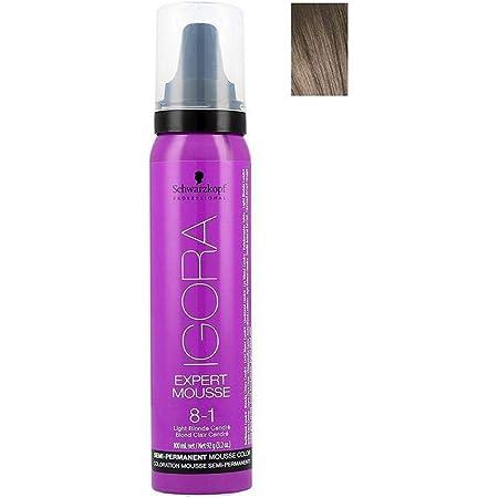 Schwarzkopf - Igora Expert Mousse Semi-Permanente, Color claro rubio, Tono 8-1, 100 ml