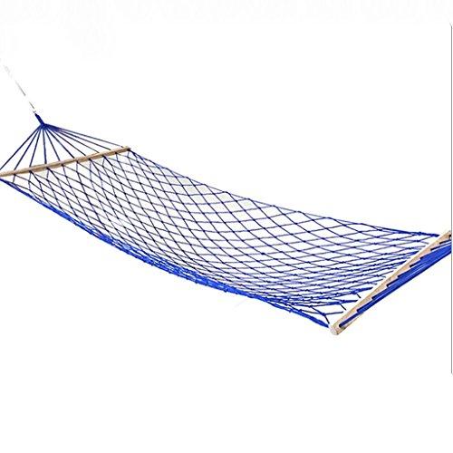 DGF Outdoor Net Nylon Rope Hamac Creative Leisure Camping Hammock200cm * 80cm - Fashionla (Couleur : Bleu)