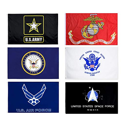 Wholesale Lot 3x5FT 6 Branches Military Set Flags Grommets Veteran Space Force