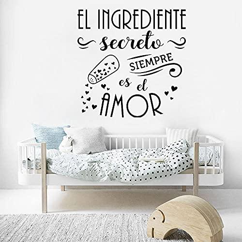 Citas de amor secreto de la familia El ingrediente secreto es siempre la pegatina de vinilo para la pared de la habitación de los niños en la cocina. Tamaño: 42 x 42 cm.