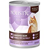 Holistic Select Natural Grain-Free Wet Cat Food - Grain Free Chicken Pate Recipe - 13 oz - 12 ct