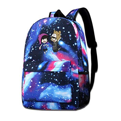 JuaoHuan Dan and Phil Durable Backpack Travel Backpacks Bookbag Men and Women Backpack Blue