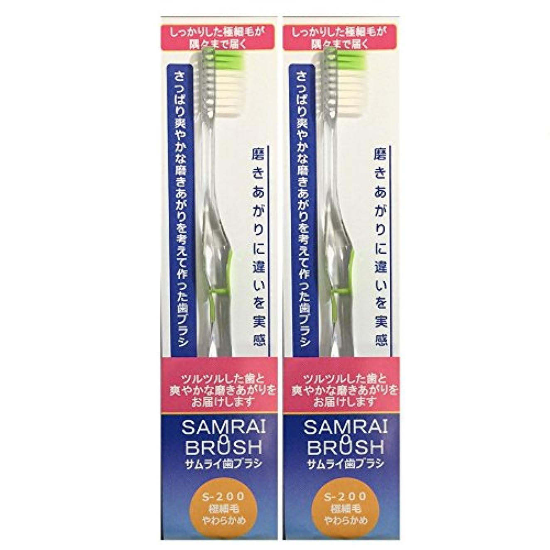 ダーツラインナップ同意サムライ(SAMRAI)歯ブラシやわらかめ グリーン 2本