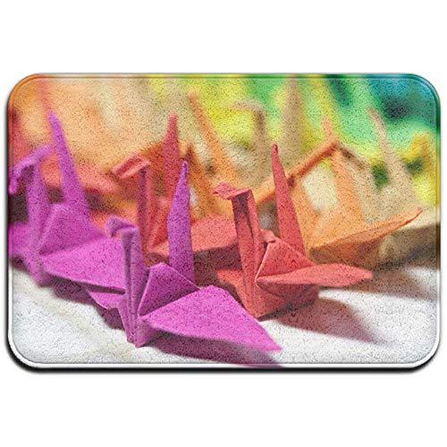 N/A Origami-Papierkranich Nette Gummimatte im Freien vorne von Mats Porch Garage Large Flow Slip Entry Carpet