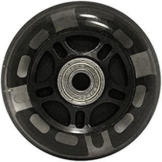 KSS 82A Skate Light Up LED Inline Wheels with ABEC 9 Bearings (4 Pack),  76mm,  Black