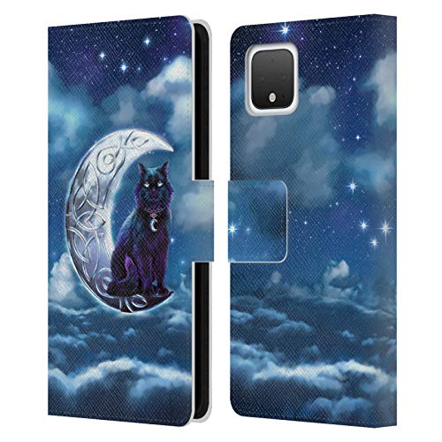 Head Case Designs Officially Licensed Brigid Ashwood Black Cat Celtic Wisdom 2 Leather Book Wallet Case Cover Compatible with Google Pixel 4