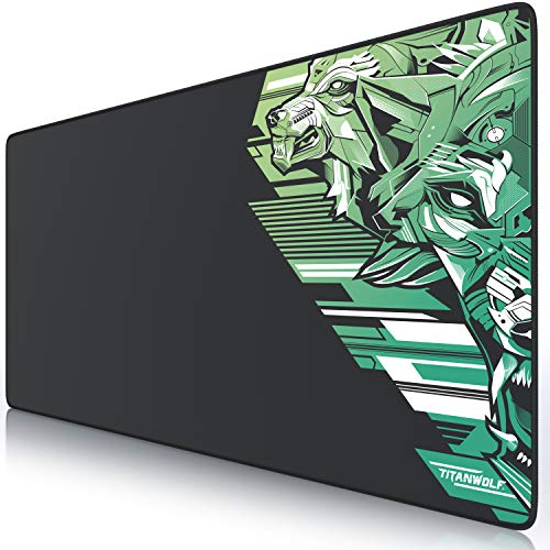 TITANWOLF - XXL Alfombrilla para ratón 900 x 400 mm - Speed Gaming Mousepad - Mouse Pad para Ordenador - Base para Mesa...