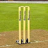 Fortress Spring Back Cricket Stumps – 28in Senior Stumps – Freestanding & Portable