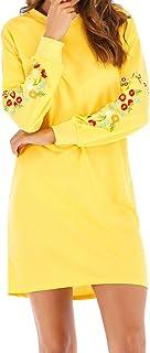 Sudaderas para Mujer Sin Capucha Invierno Pullover,PAOLIAN Vestido Mujer Cortos Fiesta Sexy Estampado Floral Otoño Tallas ...