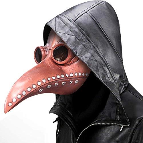 supremask Traje de médico de la Peste Novedad Pico Largo Pájaro Cosplay Steampunk Accesorios...