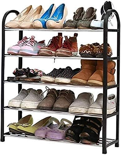Estante de zapatos Zapatero Simple Family Zapatos práctico zapatero zapatero simple almacenamiento vertical Organizador Negro Plástico Plataforma Plataforma Plataforma Plataforma Comedor Salón Dormito