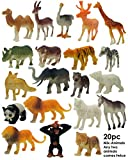 SaleON® 20pc Wildlife Model Children Puzzle Early Education Gift Mini Jungle Animal Toy Set Realistic Animal Figures Toys for Kids , Animal Toy Set Play for Kids (Mix-Animal) 1215
