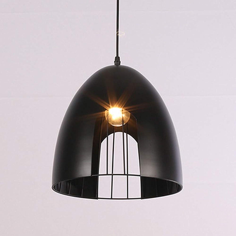 Xiaoxiao666 Kreative Hohle Hochleistungswindlabor-Techniklampen des Neuen Amerikanischen Landweinleseschmiedeisenleuchers, Schwarz