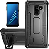 KUAWEI Coque Samsung Galaxy A8 2018 Slim Armure Series - Lourde Hybride Protège -Corps Complet...