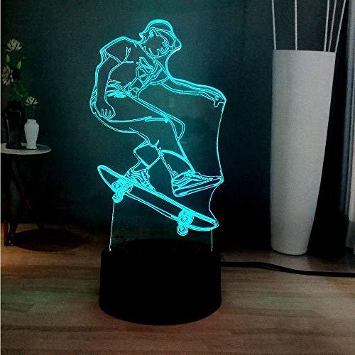 Nachtlichter Neue 3D Sport Roller Junge 7 Farbwechsel Led Dekoration Atmosphäre Stehtisch Lampe Schlafzimmer Nachtlicht Kinder Von Geschenk Spielzeug