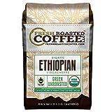 Fresh Roasted Coffee LLC, Green Unroasted Ethiopian Yirgacheffe Organic Coffee Beans, 5 Pound Bag