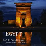 Egypt 8.5 X 8.5 Photo Calendar January 2020 - June 2021: 18 Monthly Mini Picture Book| Cute 2020-2021 Year Blank At A Glance Monthly Colorful Desk ... (Awesome Country Photograph Desk Calendars)