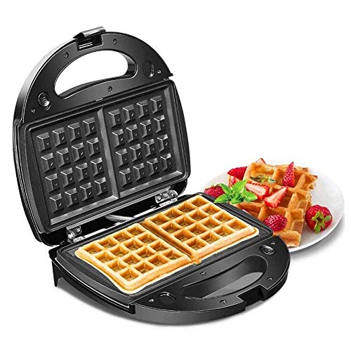 Multifunctionele wafelijzer, Household Waffle Machine, Retro Waffler Strijkijzer, Non Stick Coated, Automatic Temperature Control, verwisselbare bakplaat, for bakkerijen, restaurants, kantines, Etc.