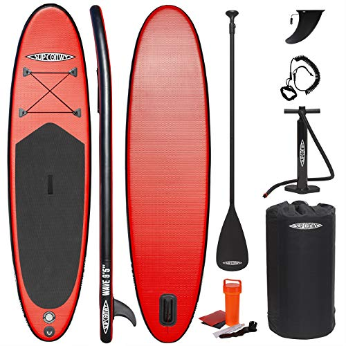 SUP Conwy Wave 9' 6' Kids Inflatable Stand Up Paddle Board Complete Kit with Paddle, Pump, Bag, Leash and More