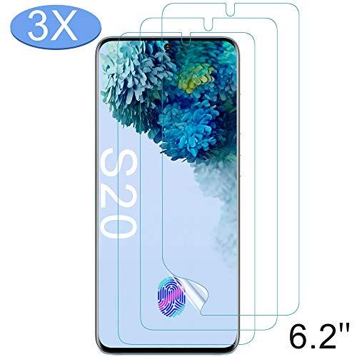 Luibor für Samsung Galaxy S20 Schutzfolie (3 Stück), Anti-Bläschen Transparenz Gehärtetem Weich TPU Bildschirmschutzfolie Schutzfolie für Samsung Galaxy S20