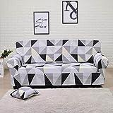 QUNLIPAI Funda para Silla de sofá, geometría elástica de Spandex y Funda de sofá Estampada,Color 8,1-Seater