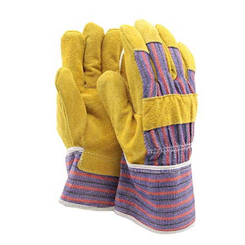 Soft Touch Rindspaltleder Handschuh, halb gefüttert Arbeitshandschuhe Heavy Duty Mehrfarben - Allround-Handschuhe aus Leder - One Size - 1 Paar