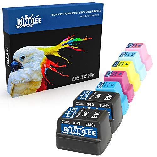 RINKLEE 7 Compatibles 363 Cartuchos de Tinta Reemplazo para HP Photosmart C7280 C8180 C5180 C6180 C6280 C7180 3310 3210 3110 8250 D6160 D7160 D7260 D7460