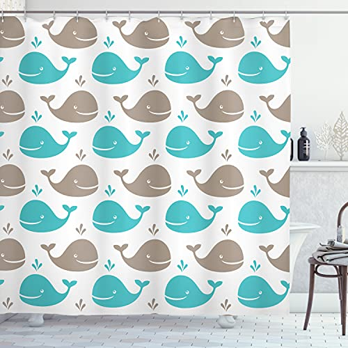 Whale Pattern Curtain