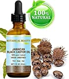 """BLACK CASTOR OIL JAMAICAN. 100% Pure / Natural / Virgin / Unrefined Cold Pressed Carrier oil. 1 Fl.oz.- 30 ml. For Skin, Hair, Eyelashes, Brows and Nail Care.'Caribbean Original Guarantee."""""""