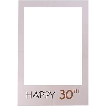 LUOEM Geburtstag Bilderrahmen Happy 1 DIY Geburtstag Photo Booth Props Papier Ausschnitte f/ür Baby Geburtstag Party Dekoration