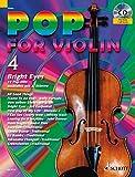 Pop for Violin: Bright Eyes. Band 4. 1-2 Violinen. Ausgabe mit CD.