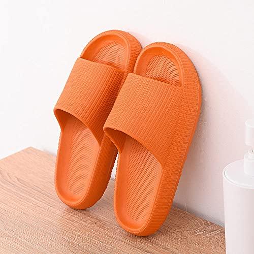QQRR Slide - Chanclas de baño antideslizantes y resistentes al desgaste, color naranja, talla 38-39