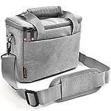 FOSOTO Camera Bag Case with Waterproof Rain Cover Compatible for Nikon D3500 D5600 D7500 D610 Canon EOS 4000D 2000D SL3 T7 SX530 Fujifilm X-T20,Grey
