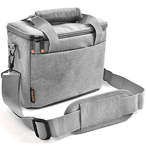 FOSOTO Camera Bag Case with Waterproof Rain Cover Compatible for Nikon D3500 D5600 D7500 D610 Canon...