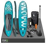 Inka Premium Moana - Tabla de surf inflable para surf (308 x 76 x 10 cm, capacidad de 120 kg, kit de reparación y accesorios (turquesa)