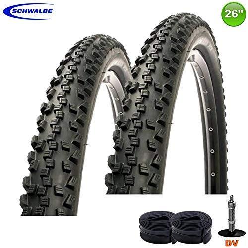 2X Schwalbe Black Jack K-Gard Neumático de la Bicicleta 26 X 2.10-54-559 + 2 Mangueras DV13