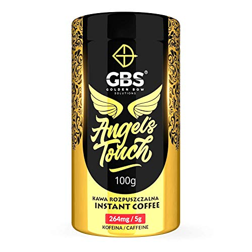 GBS Angel's Touch Instant Coffee 100g / 264mg of Caffeine per serving / salted caramel